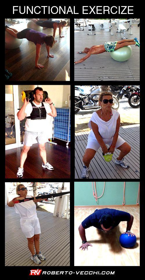 Roberto Vecchi   Personal Trainer www.roberto-vecchi.com  ALLENAMENTO FUNZIONALE: La nuova frontiera dell'allenamento Cosa aspettate…venite a provarlo insieme a me !!  Ecco un esempio di allenamento a circuito per il DIMAGRIMENTO : - 10 min. corsa - 1 x 10 flessioni delle braccia - 1 x 10 cruch - 1 x 10 clean con sanbag - 10 min. prono plank - 1 x 10 affondi in camminata - 1 x 10 crunch inversi - 2 min. recupero - ripetere 5 volte la sequenza - 10 min. corsa