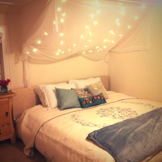 Romantico!!  Over bed lighting.