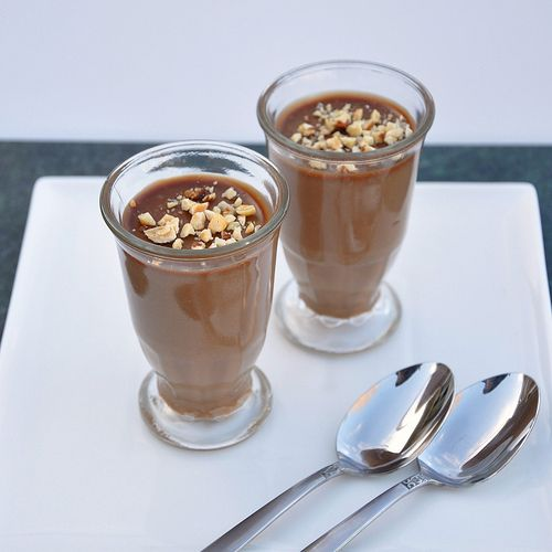 Gianduja budino ~ Easy to make and inspired from a day of tasting chocolate in Turin
