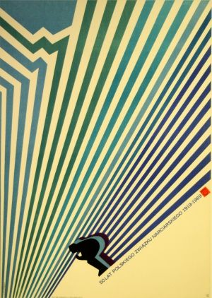 50 Years of Polish Skiing, 1969 - original vintage poster by J Neugebauer listed on AntikBar.co.uk