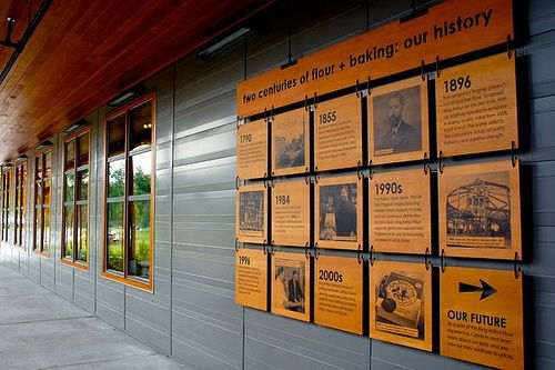 Environmental Graphics at The entrance to King Arthur Flour | Flickr - Photo Sharing!