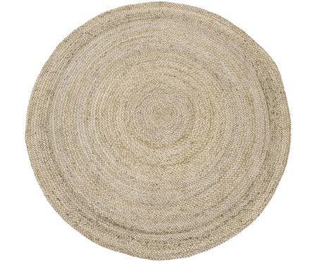 Handgefertigter Jute-Teppich Eldoro, Beige