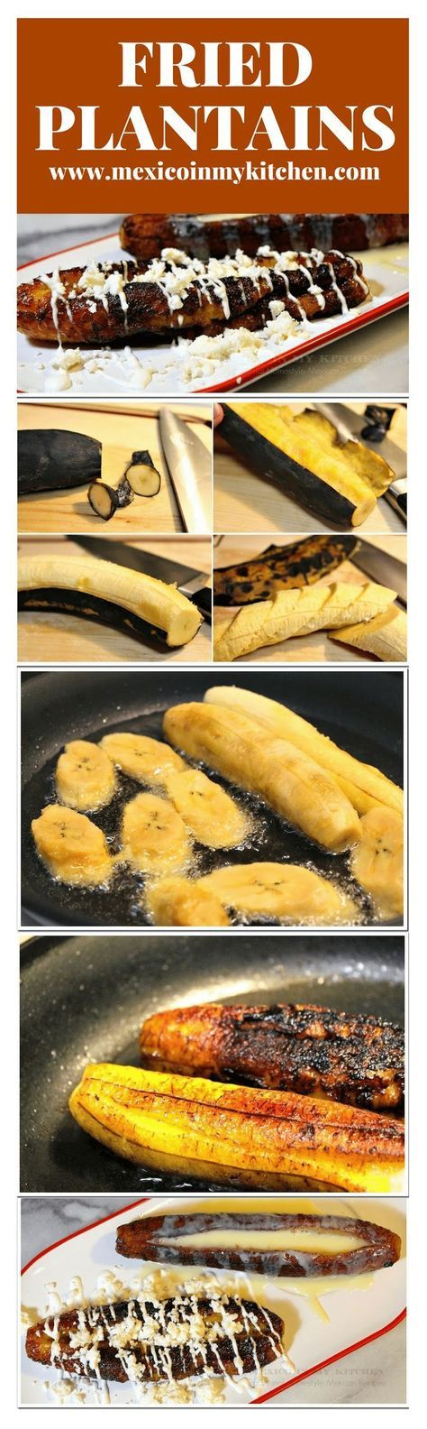 Fried Plantains │Plátanos Fritos are very popular all over the coastal areas and are usually served as a side dish with white rice.#mexicanrecipes #mexicanfood #mexicancuisine #plantains