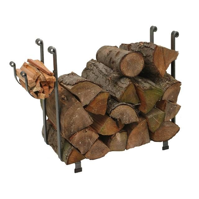 Crafted from hot-rolled hammered steel, our Rectangle Log Rack keeps firewood close at hand while beautifully accenting your hearth. Simple, elegant and highly functional, this traditionally designed rack includes a handy kindling holder for quick and easy access. Handmade by skilled craftsmen Constructed of hammered steel Finished with a protective acrylic coating Hand-forged rolled ends Made in the USA.