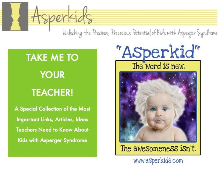 TAKE ME TO YOUR #TEACHER! Everything #educators need to support #Asperkids in one 16pg, printable or email able #download from  Temple Grandin Award Winner, bestselling Asperkids series author, Jennifer O'Toole. http://asperkids.com/shop/take-me-to-your-teacher/