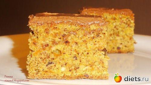 Тыквенно-ореховый пирог в молочном шоколаде: : Дневники - diets.ru