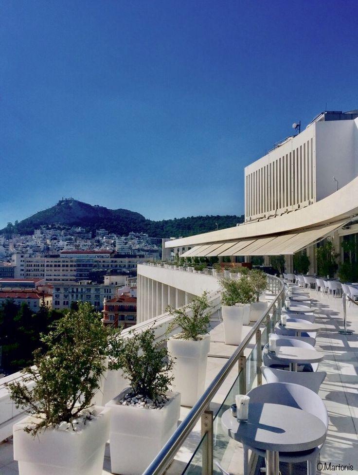 Roof Garden at Athens Hilton Hotel,Athens,Greece