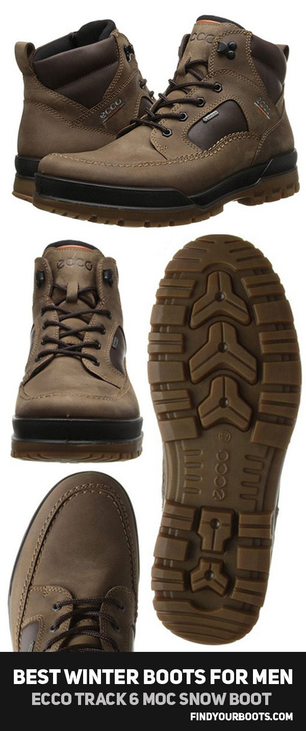 Best Winter Boots for men | ECCO Track 6 mens snow boot - http://www.findyourboots.com/best-mens-boots-for-winter-2017/