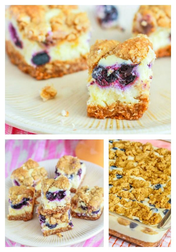 Blueberry Lemon Cheesecake Bars http://sallysbakingaddiction.com/2012/07/17/blueberry-lemon-cheesecake-bars/