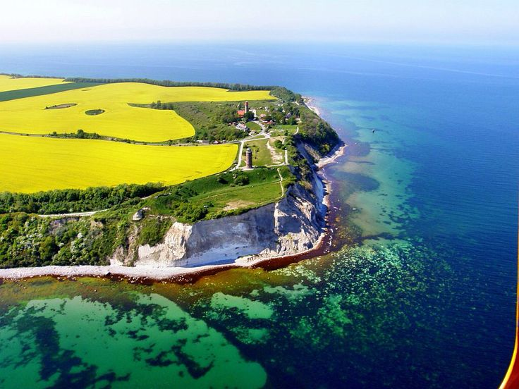 Cape Arkona, Putgarten, Rugen Island, Germany. At 147 ft high, the area contains 2 lighthouses, two military bunkers and the Slavic temple fortress of Jaromarsburg.