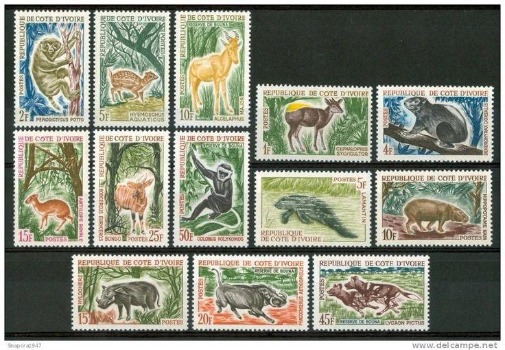 COSTA D'AVORIO FLORA | 1963/64 Costa D'Avorio Fauna Animali Animals Animaux Set MNH** Fo183