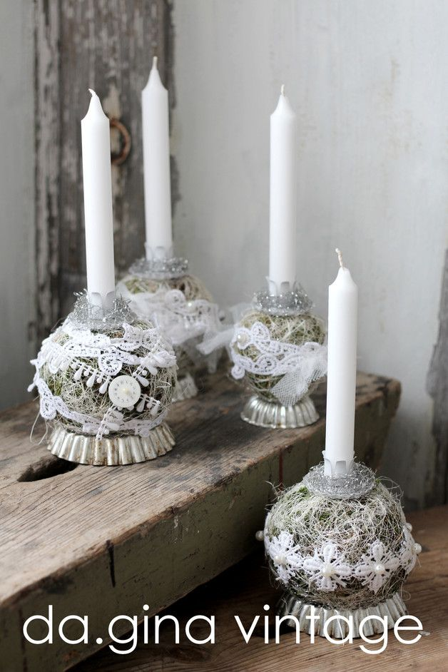 Adventskranz - ♢ Shabby Chic ~ Adventskranz mal ganz anders