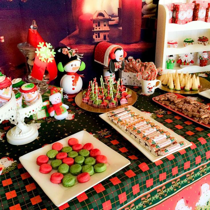 Planning Christmas Party: Candy Bar For Santa In His Workshop Christmas/Holiday