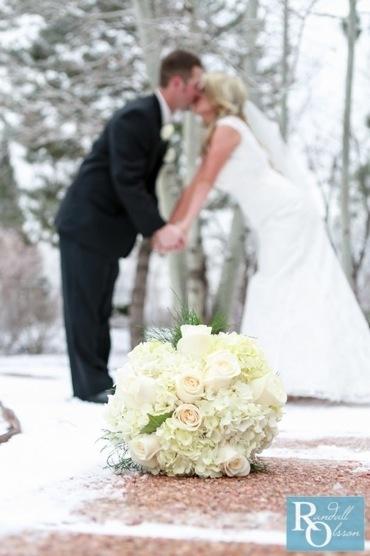 Wedding Photo, Mr. and Mrs., Winter wedding, snowy wedding photo, Randall Olsson Photography