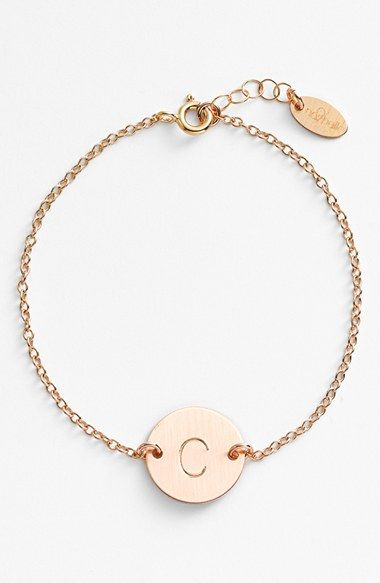 Free shipping and returns on Nashelle 14k-Gold Fill Initial Disc Bracelet at Nordstrom.com. From humble beginnings to a fully staffed warehouse in Bend, Oregon, Nashelle remains true to its original purpose—handmade jewelry crafted with love and intention. The initial bracelet is no different, with a hand-stamped pendant centered on a delicate chain-link bracelet.