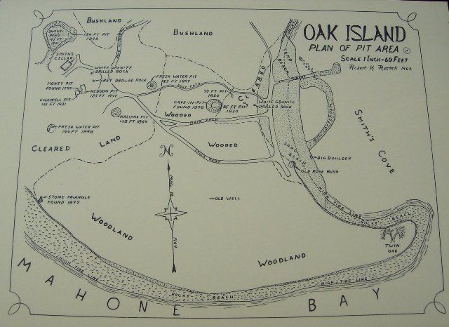 Oak Island. Coded messages claim a most noteworthy treasure of all times is buried here. To date, several attempts have been made and a lot of money has been wasted in digging with no positive outcome.