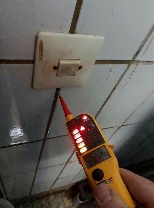 Wand unter Strom...nicht schlecht..