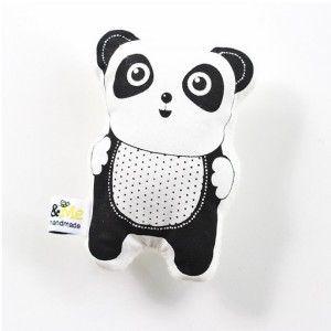 Hand printed panda rattle #ohswag #babytoys #oneofakind