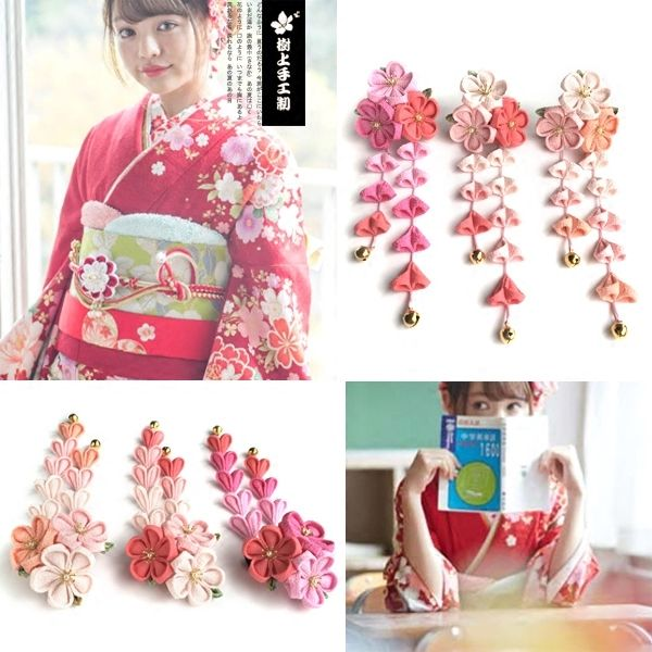 23.64$  Watch here - http://ali9x6.shopchina.info/go.php?t=32804773799 - Beautiful Japanese Traditional Tassel Hair Sticks Kimono Bathrobes Headwear Traditional Ornament Handmade Cosplay  F 23.64$ #SHOPPING
