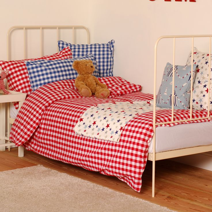 Our Burford Check #cotton makes a fantastic #bed #linen