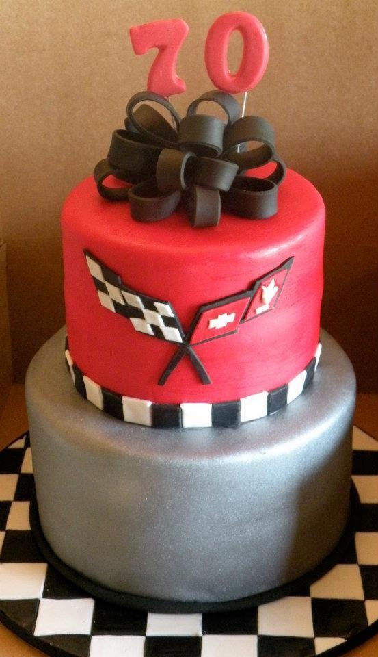 Corvette 70th birthday cake