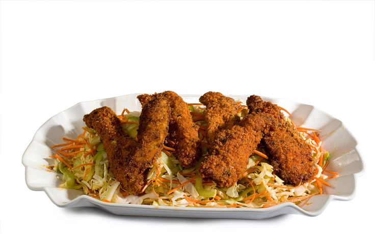 buffalo wings with a crunchy coating