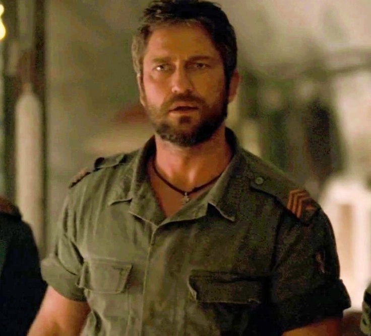 Gerard Butler in an underrated performance as Tullus Aufidius in the movie Coriolanus.  He's amazing in this film!