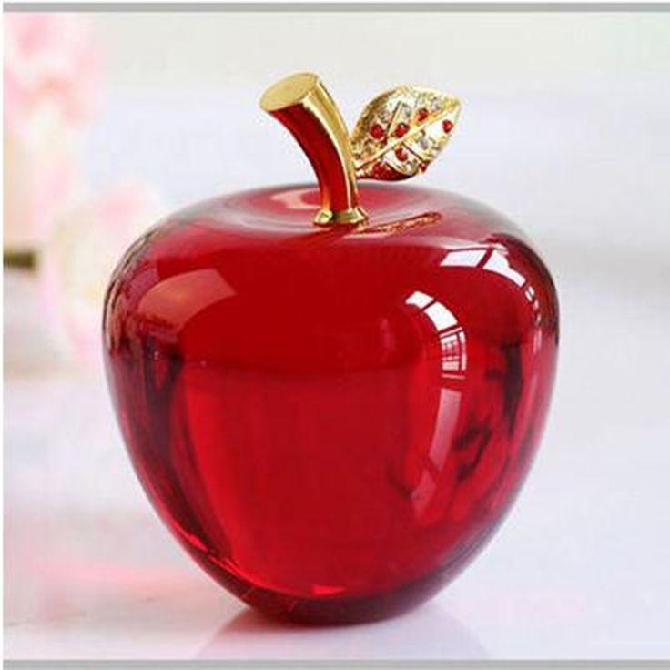 K9 хрустальное яблоко, для Обустройства дома декоративно прикладного искусства и ремесел, творческие Рождественские подарки, подарки на день рождения, desktop небольшие украшения купить на AliExpress