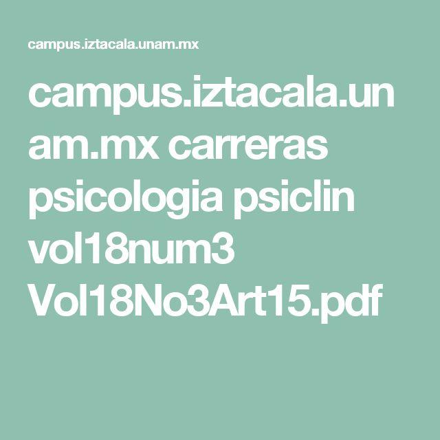 campus.iztacala.unam.mx carreras psicologia psiclin vol18num3 Vol18No3Art15.pdf