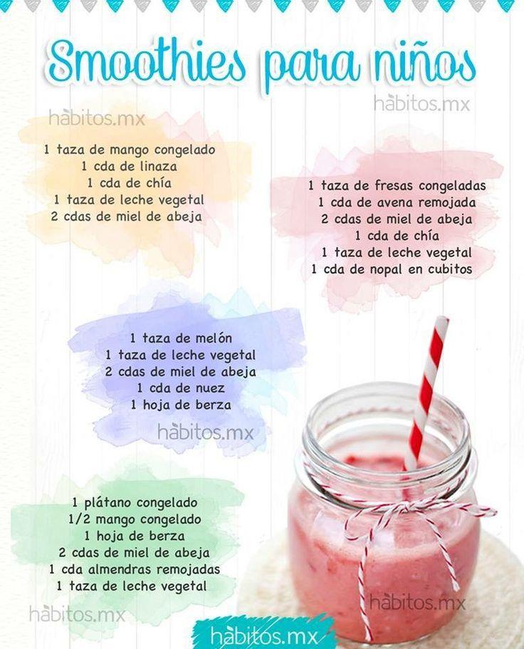 Opciones de smoothies para niños! Hábitos saludables para niños! (hábitos.mx)