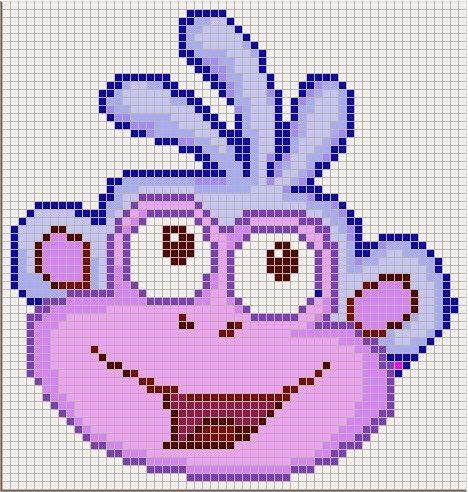 Luvs 2 Knit: Dora The Explorer perler bead pattern