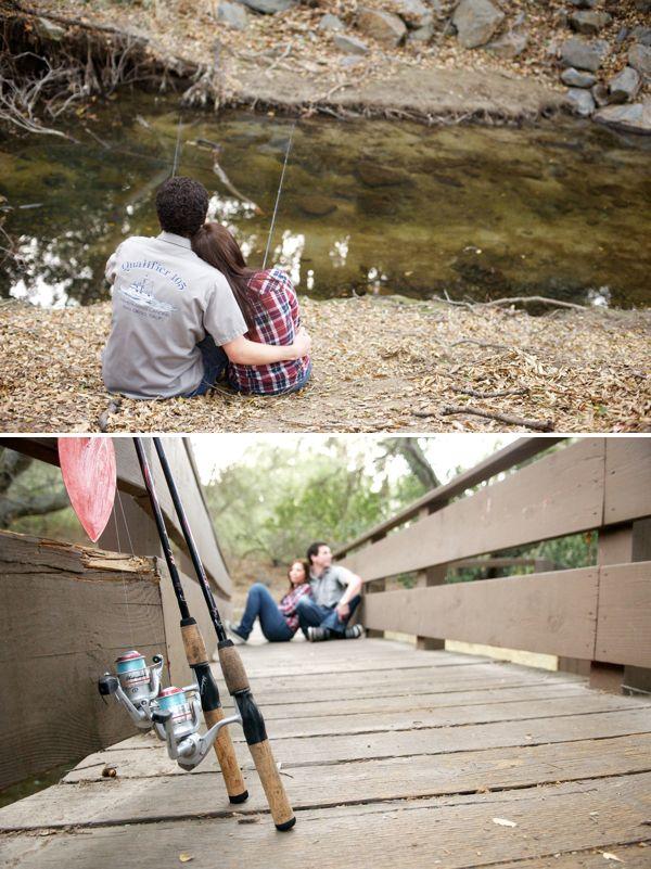 woods + fishing engagement by @Brynn Shepherd D'Avello