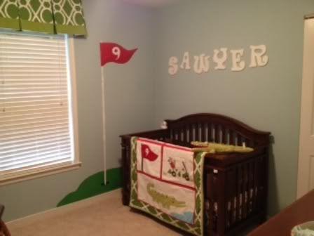 golf nursery theme   AW: Completed golf nursery! Finally...