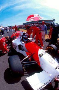 1995 Hungarian Grand Prix. Hungaroring, Hungary. 11-13 August 1995. Mika Hakkinen (McLaren MP4/10B Mercedes). He exited the race due to an engine failure