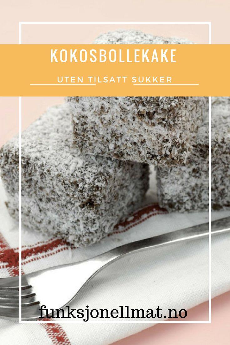 Kokosbollekake - Funksjonell Mat | Kake oppskrift | Sukkerfri kake | Sukrin | Lavkarbo oppskrifter | Glutenfri kake | Lavkarbo kake | Lavkarbo dessert | Sunne oppskrifter | Sunn dessert | Sunn kake