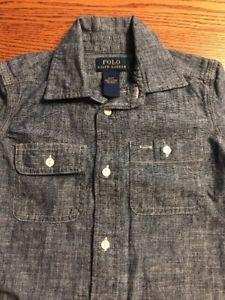 Polo, Ralph Lauren Toddler Boys Size 2T Chambray Long Sleeve Shirt EUC  | eBay