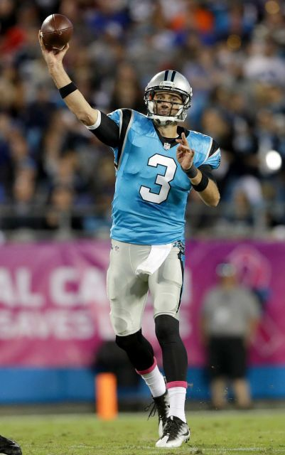 Monday Night Football: Buccaneers vs. Panthers:     October 10, 2016, 17-14, Buccaneers  -      Derek Anderson of the Carolina Panthers throws a pass against the Tampa Bay Buccaneers in the second quarter during their game at Bank of America Stadium on Oct. 10, 2016 in Charlotte, N.C.