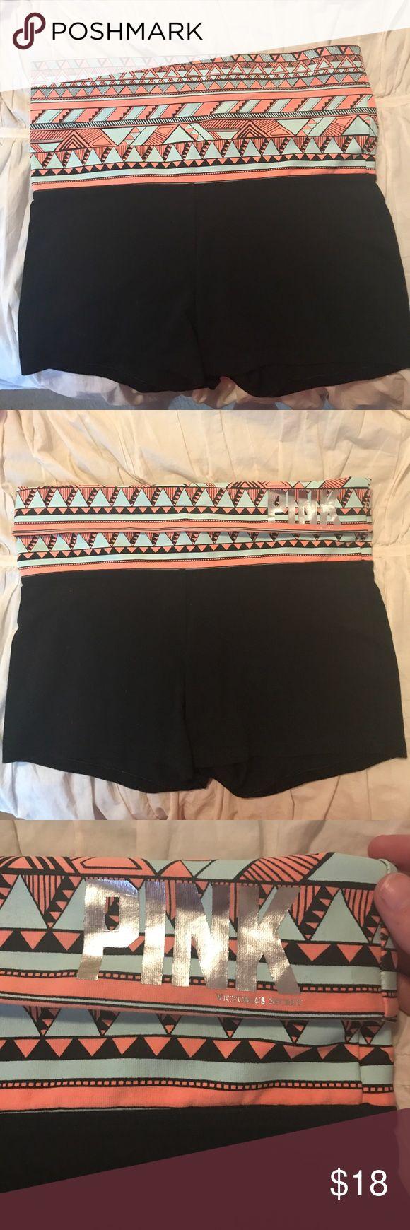 Victoria's Secret Fold over Yoga Pants VS Fold-over Yoga Pants! Pet free/Smoke free home! Only worn a few times-excellent condition! PINK Victoria's Secret Shorts
