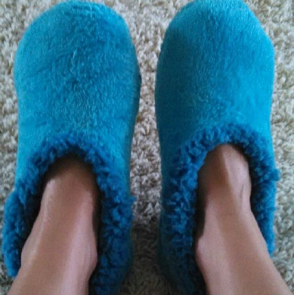 More fuzzy slippers Comfy cozy blue fuzzy slippers Shoes Slippers