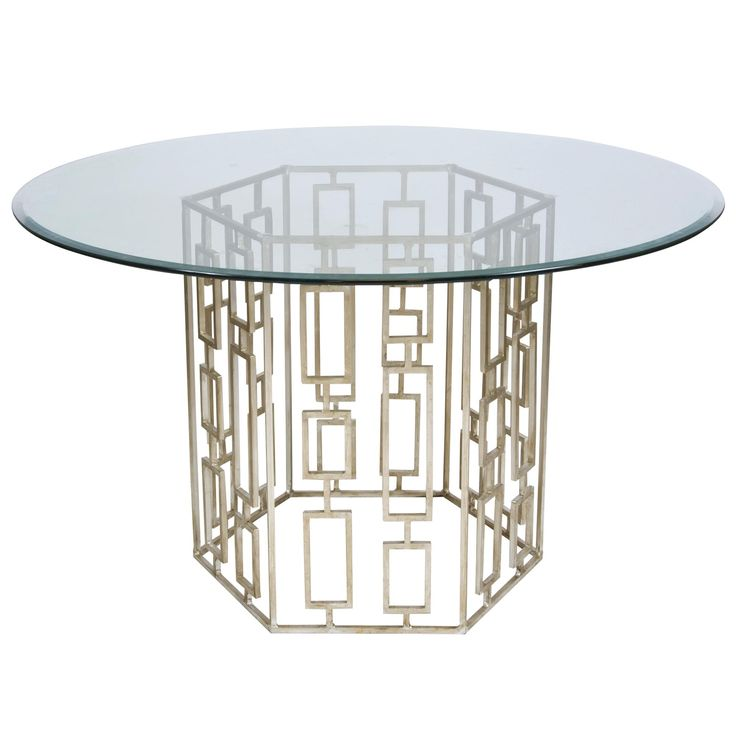 Jackson Silver Leafed Dining Table By Worlds Away Available With A 48