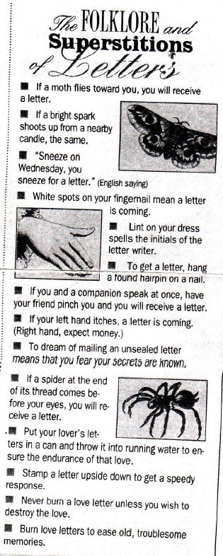 Letter Writers Alliance: Letter Superstitions