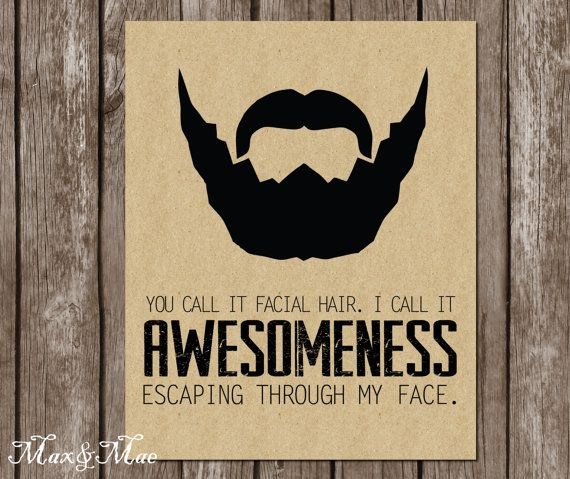 Lumberjack Birthday Sign Facial Hair Is by MaxandMaeInvites
