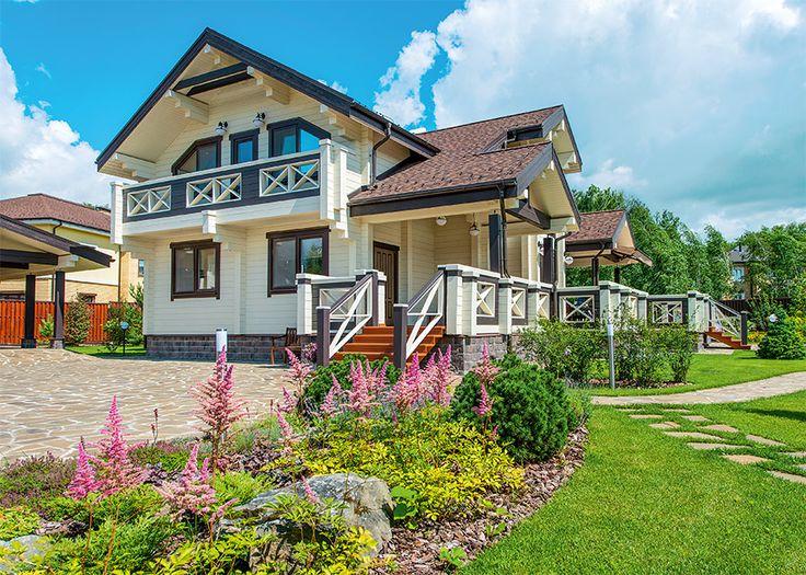 Дом из клееного бруса на основе базового проета от компании «Вятский дом» | Дома из клееного бруса | Журнал «Деревянные дома»