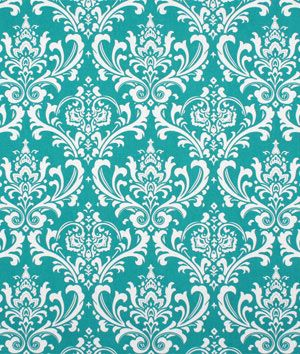 Bedroom curtain : Premier Prints Ozbourne True Turquoise Fabric - $7.45   onlinefabricstore.net