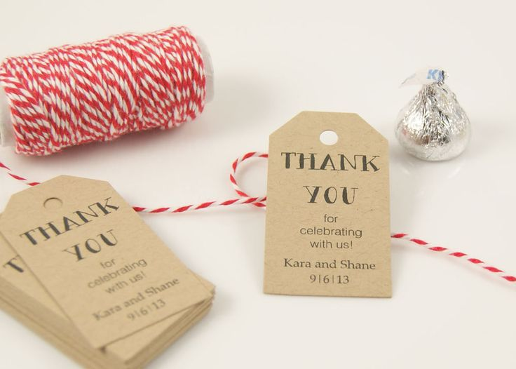 Tags, Wedding Favor Tag, Bridal Shower Favor Tag, Candy Tag, Thank You ...
