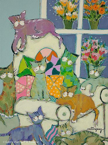 Claudette Castonguay, 'Chez grand-maman', 12'' x 16'' | Galerie d'art - Au P'tit Bonheur - Art Gallery