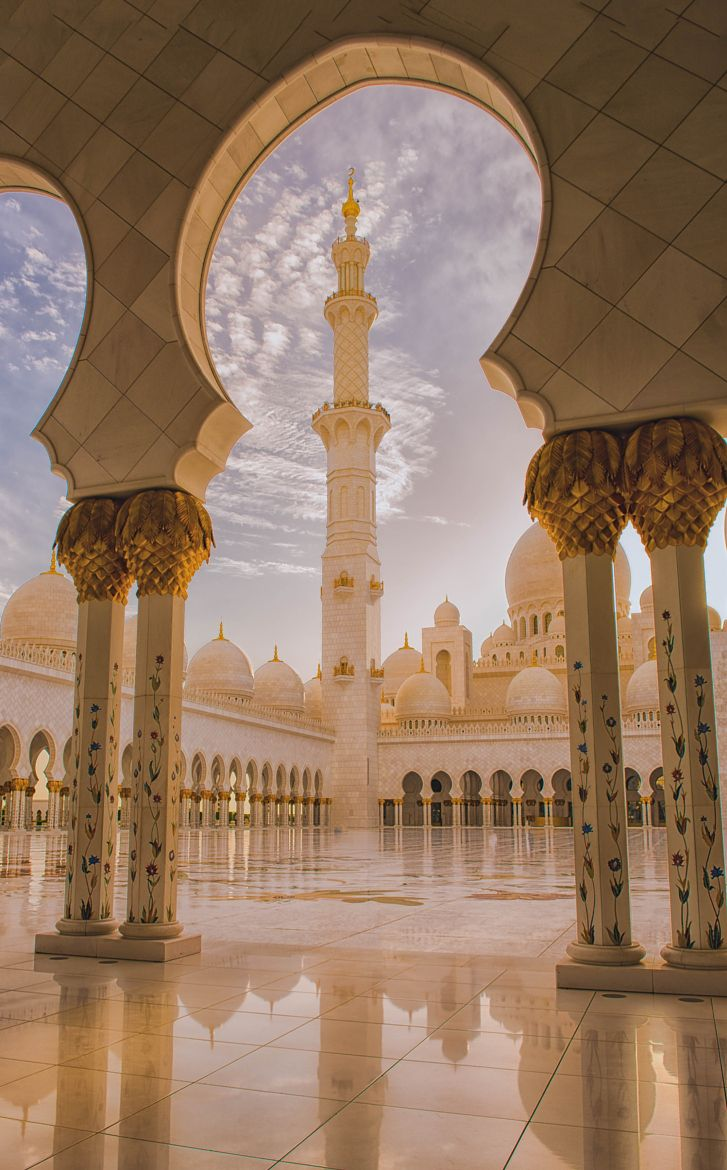 abu dhabi united arab emirates amazing beautiful #grand mosque