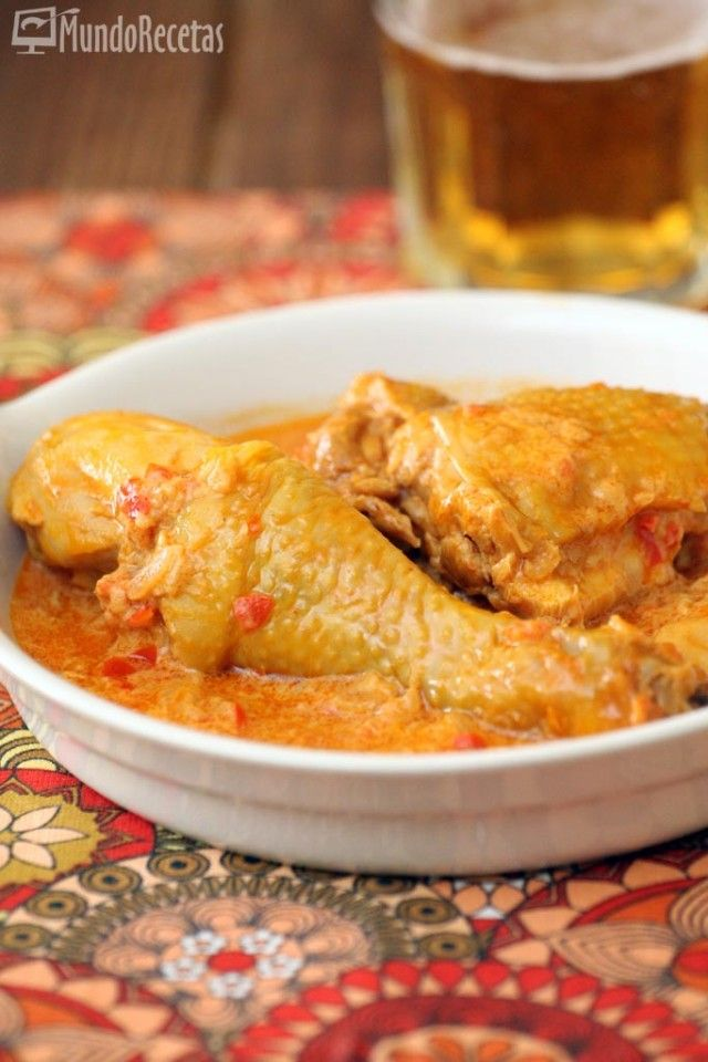 Pollo con pimentón y crema fresca – Mundo Recetas