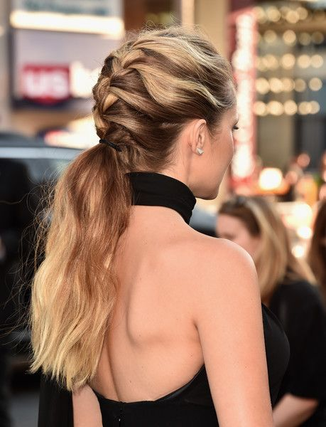 Teresa Palmer French Braid - Teresa Palmer looked simply lovely wearing this French braid ponytail at the premiere of 'Lights Out.'