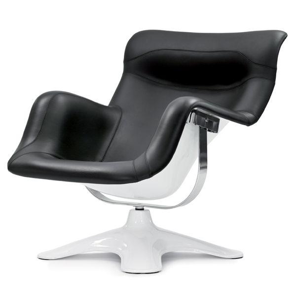 Karuselli-tuoli, musta-valkoinen
